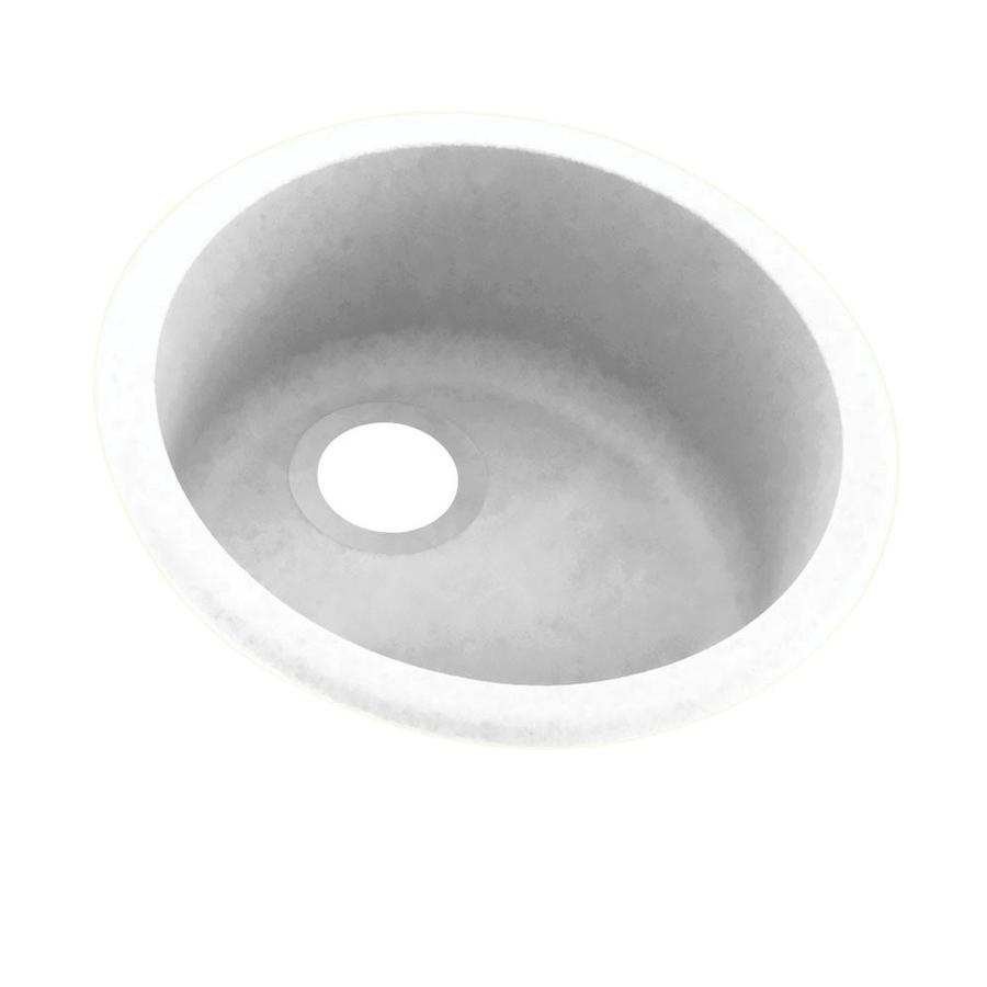 Swanstone 18.5-in x 18.5-in White Single-Basin Composite Drop-In or Undermount Residential Kitchen Sink
