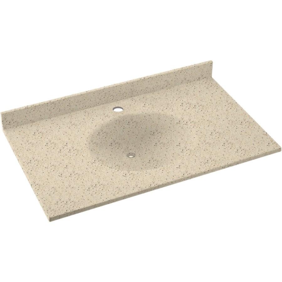 Swanstone Ellipse Solid Surface Bathroom Vanity Top (Common: 49-in x 22-in; Actual: 49-in x 22-in)