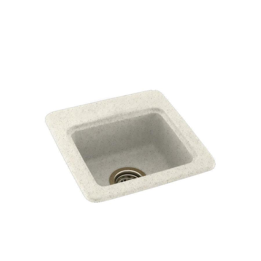 Swanstone Tahiti Matrix Single-Basin 1-Hole Composite Drop-in or Undermount Residential Bar Sink