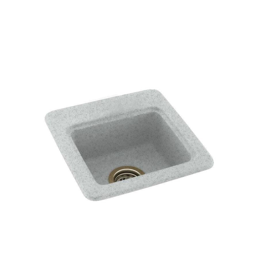 Swanstone Tahiti Gray Single-Basin 1-Hole Composite Drop-in or Undermount Residential Bar Sink