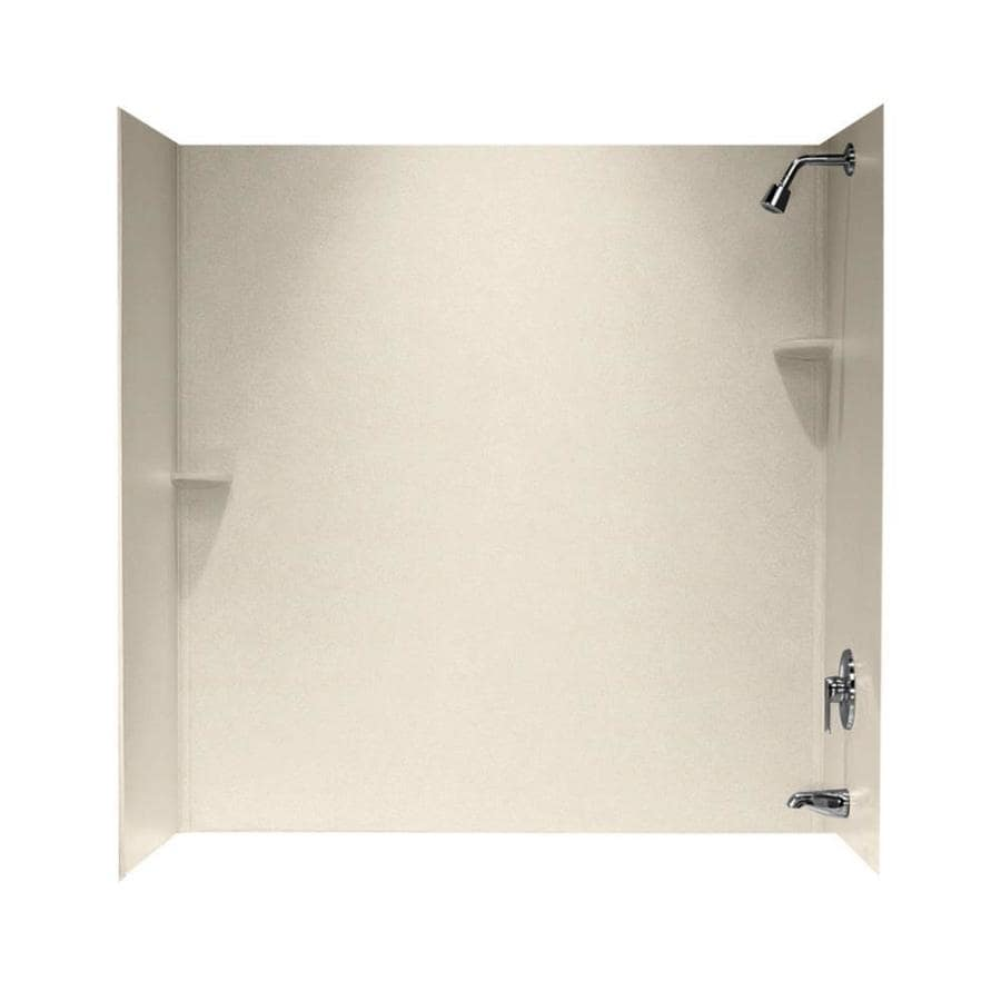 Swanstone Tahiti Sand Solid Surface Bathtub Wall Surround (Common: 30-in x 60-in; Actual: 60-in x 30-in x 60-in)