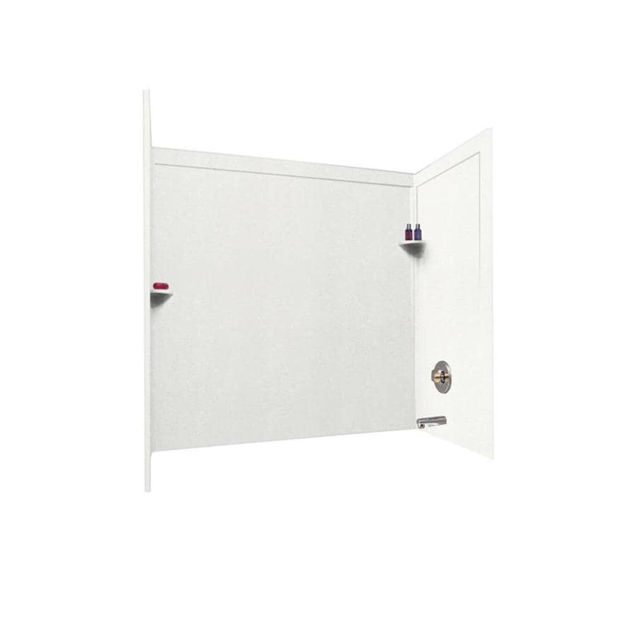 Swanstone Bisque Solid Surface Bathtub Wall Surround (Common: 33-in x 60-in; Actual: 60-in x 33.5-in x 60-in)