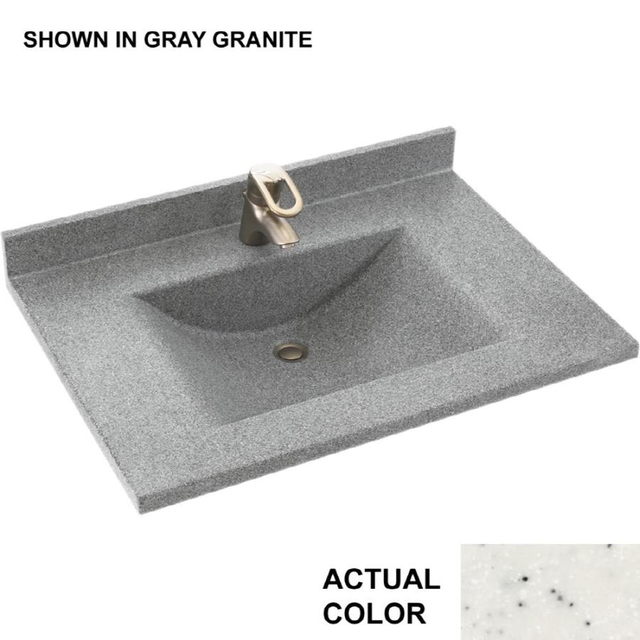 Swanstone Contour Tahiti Matrix Solid Surface Integral Single Sink Bathroom Vanity Top (Common: 25-in x 22-in; Actual: 25-in x 22-in)