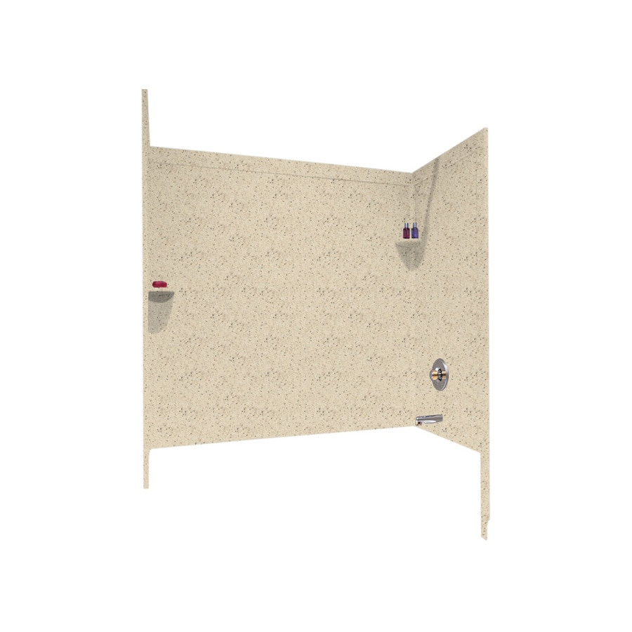 Swanstone Bone Solid Surface Bathtub Wall Surround (Common: 33-in x 60-in; Actual: 60-in x 33.5-in x 60-in)