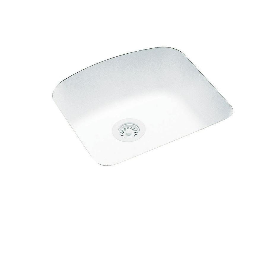 Swanstone 20.25-in x 21-in White Single-Basin Composite Undermount Residential Kitchen Sink