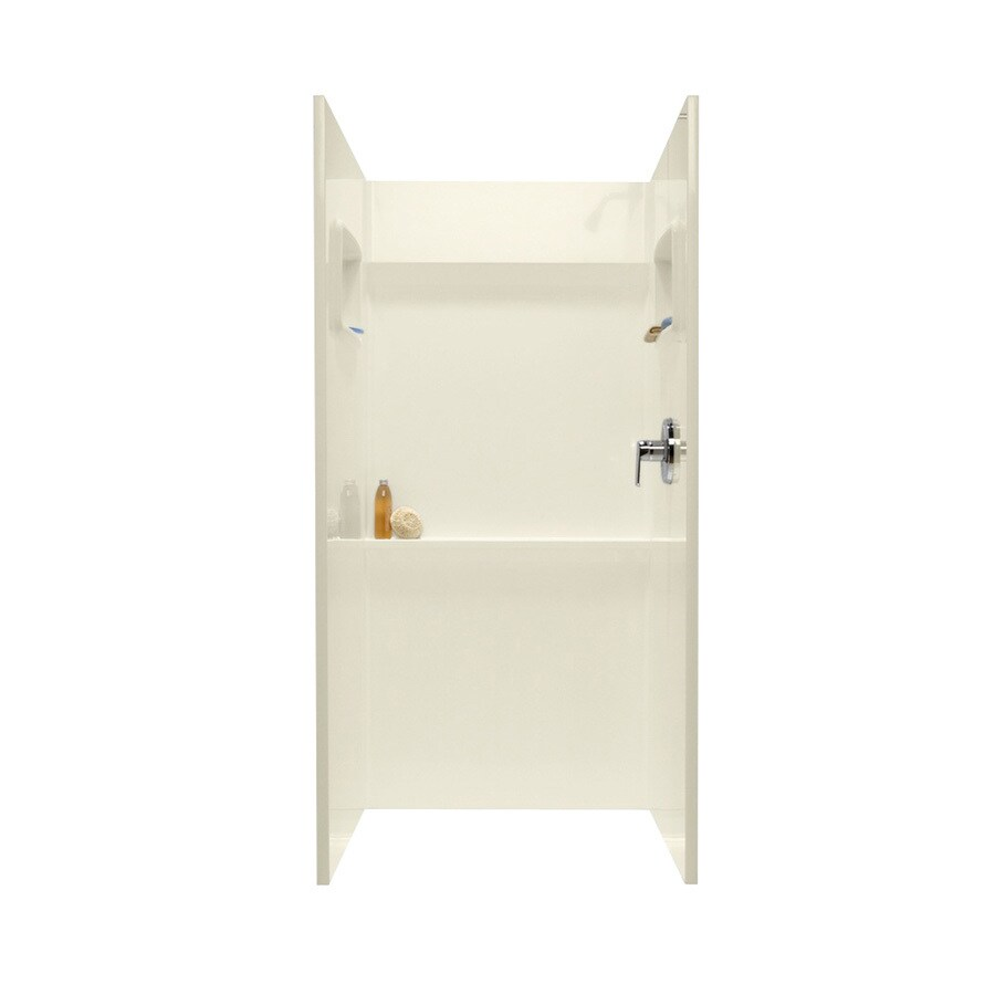 Swanstone Bone Shower Wall Surround Side and Back Panels (Common: 32-in; Actual: 72-in x 32-in)
