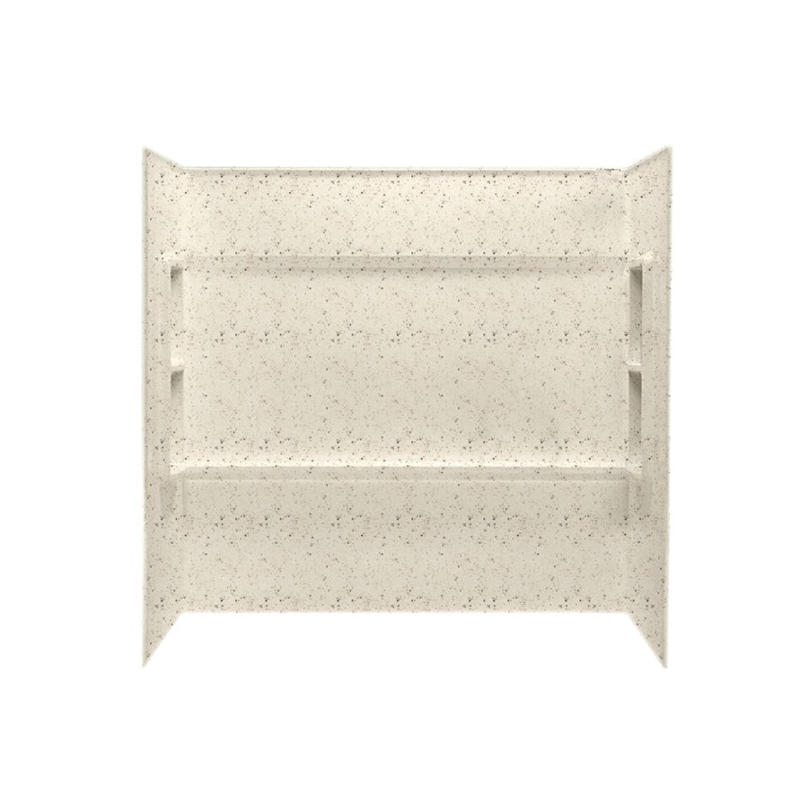 Swanstone Tahiti Desert Fiberglass and Plastic Composite Bathtub Wall Surround (Common: 30-in x 60-in; Actual: 59.5-in x 30-in x 60-in)