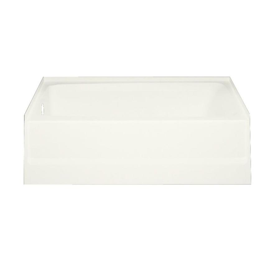 Swanstone Veritek Bisque Fiberglass and Plastic Composite Rectangular Skirted Bathtub with Left-Hand Drain (Common: 30-in x 60-in; Actual: 16-in x 30-in x 60-in)