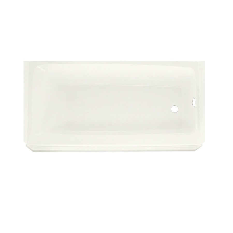 Swanstone Veritek Bisque Fiberglass and Plastic Composite Rectangular Skirted Bathtub with Right-Hand Drain (Common: 30-in x 60-in; Actual: 16-in x 30-in x 60-in)