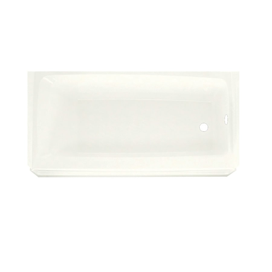 Swanstone Veritek White Fiberglass and Plastic Composite Rectangular Skirted Bathtub with Right-Hand Drain (Common: 30-in x 60-in; Actual: 16-in x 30-in x 60-in)