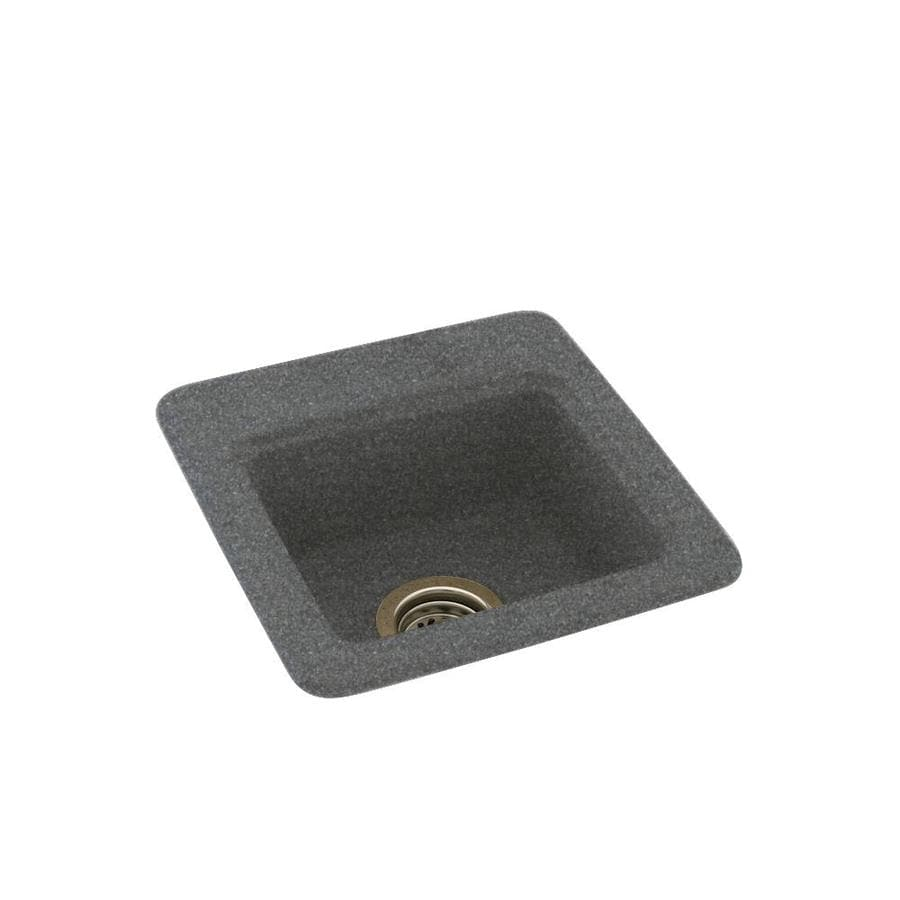 Swanstone Night Sky Single-Basin 1-Hole Composite Drop-in or Undermount Residential Bar Sink