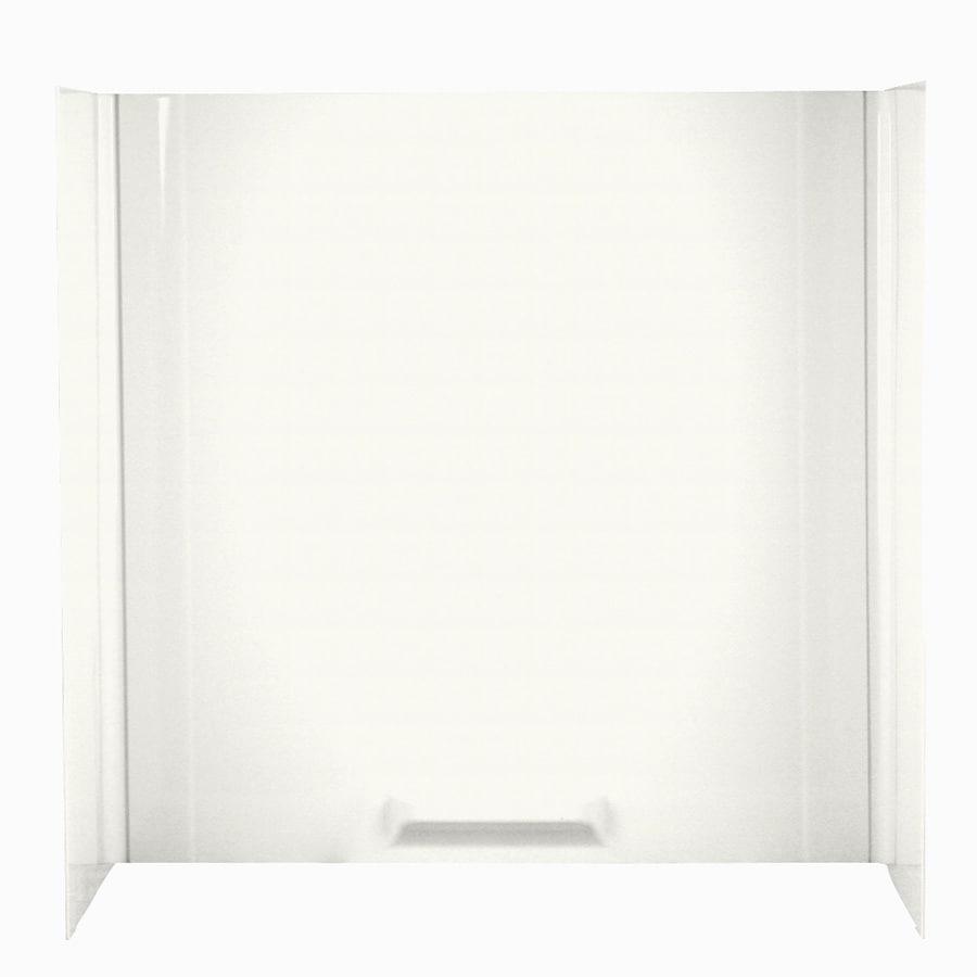 Swanstone Bisque Fiberglass and Plastic Composite Bathtub Wall Surround (Common: 30-in x 60-in; Actual: 58-in x 30-in x 60-in)