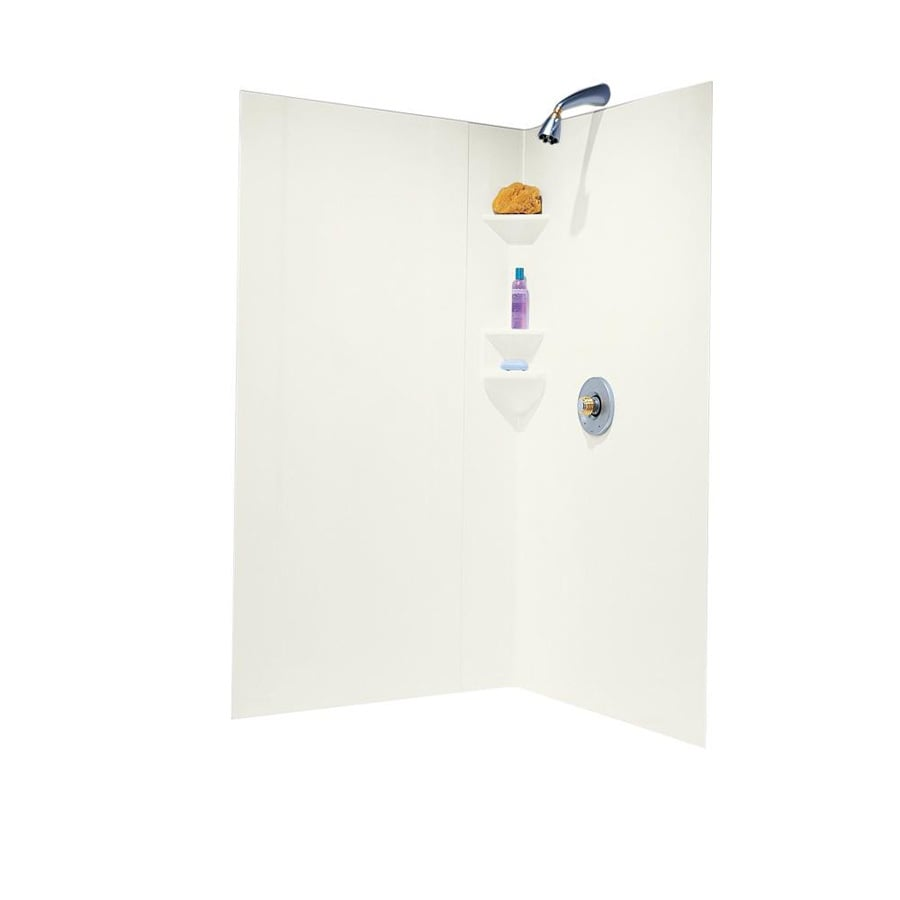 Swanstone Bisque Shower Wall Surround Corner Wall Panel (Common: 38-in; Actual: 70-in x 39-in)