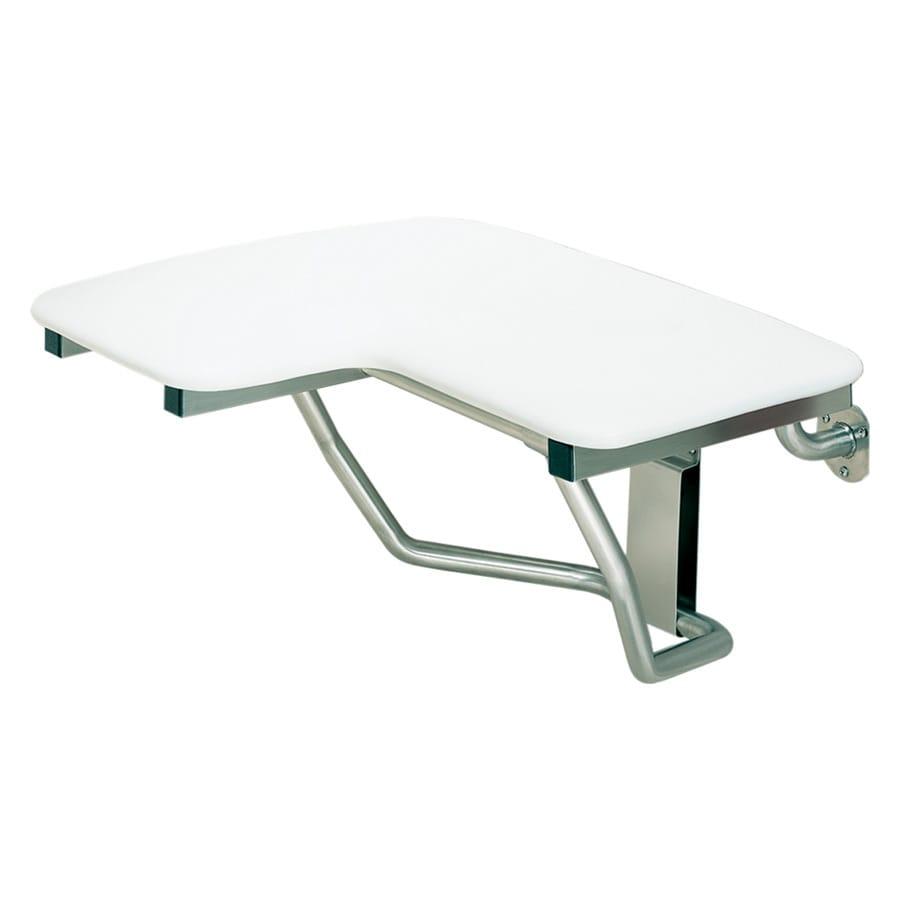 Swanstone White Plastic Wall Mount Shower Seat