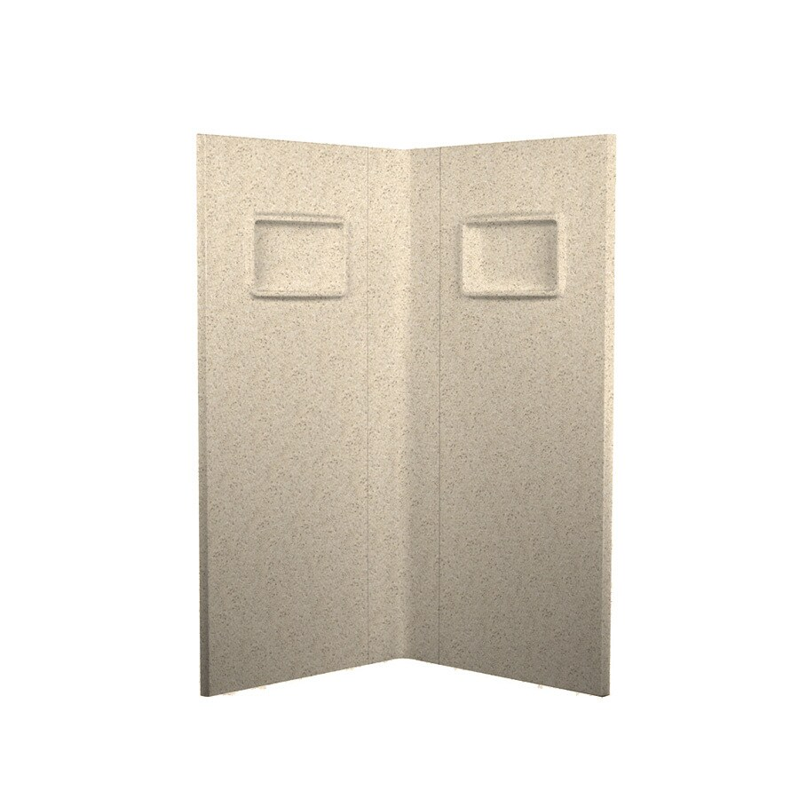 Swanstone Bermuda Sand Shower Wall Surround Corner Wall Panel (Common: 38-in; Actual: 73.25-in x 37.5-in)