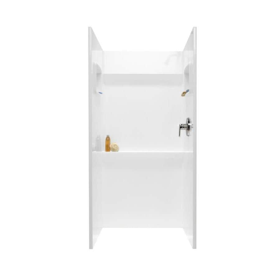 Swanstone White Shower Wall Surround Side and Back Panels (Common: 36-in; Actual: 72-in x 36-in)