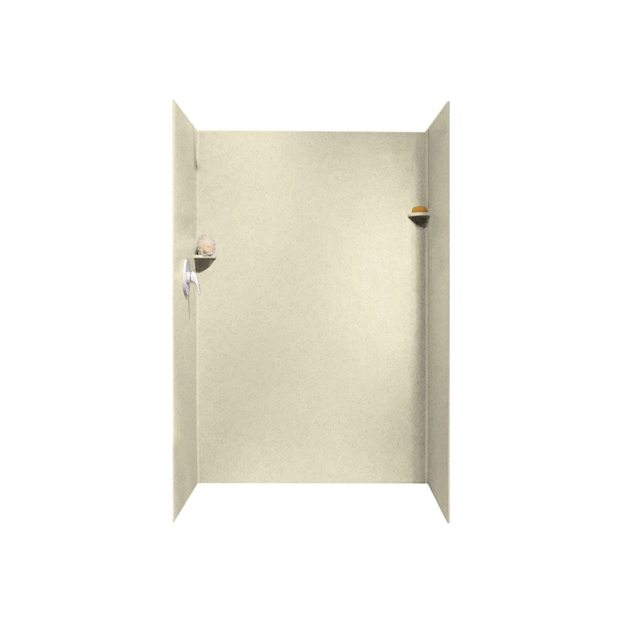 Swanstone Bone Shower Wall Surround Side and Back Panels (Common: 34-in; Actual: 72-in x 34-in)