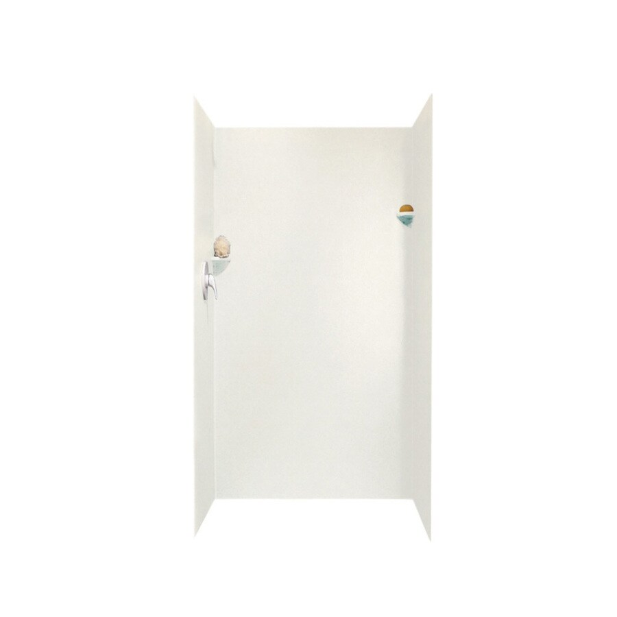 Swanstone Tahiti Ivory Shower Wall Surround Side and Back Panels (Common: 36-in; Actual: 72-in x 36-in)