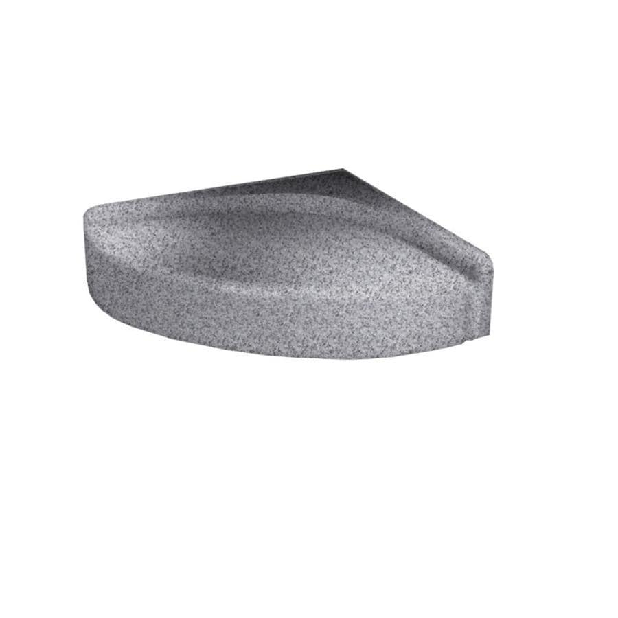 Swanstone Gray Granite Composite Wall Mount Shower Seat
