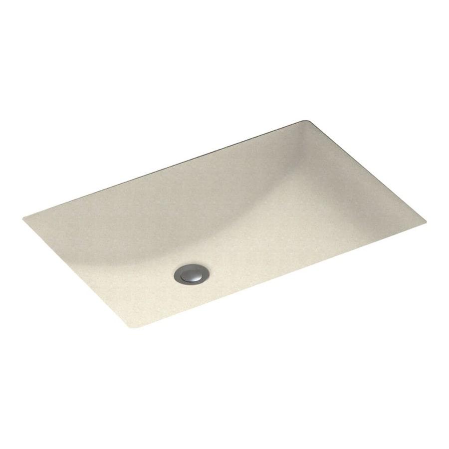 Swanstone Pebble Composite Undermount Rectangular Bathroom Sink with Overflow
