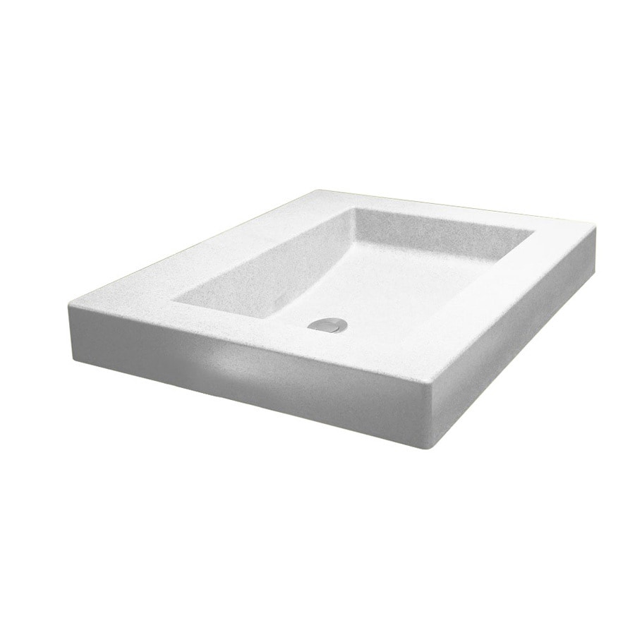 Swanstone Palladio White Composite Vessel Bathroom Sink