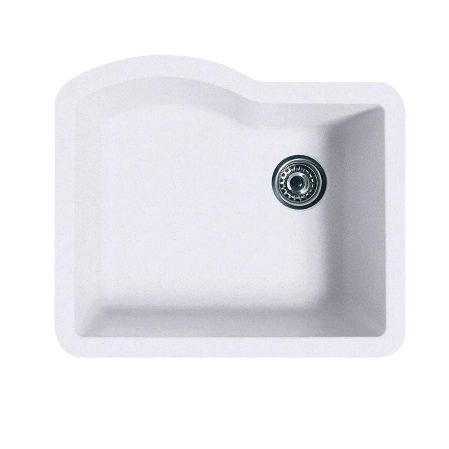 SWAN 21-in x 24-in Bianca Single-Basin Granite Undermount Residential Kitchen Sink