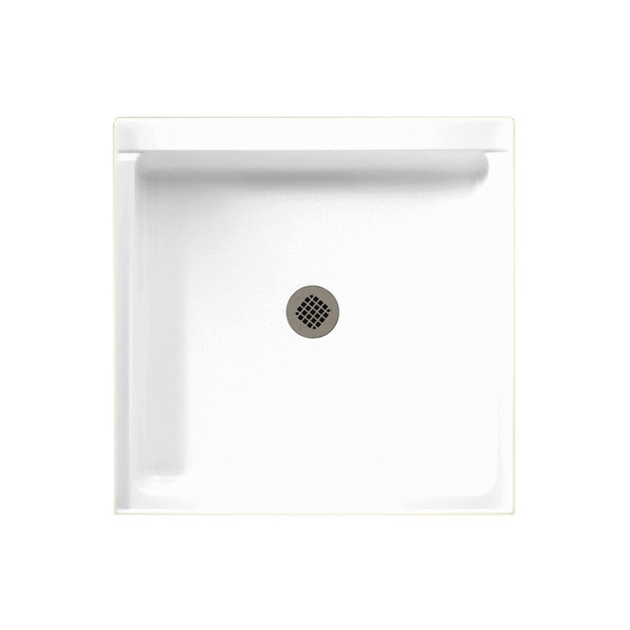 Swanstone White Solid Surface Shower Base (Common: 32-in W x 32-in L; Actual: 32-in W x 32-in L)