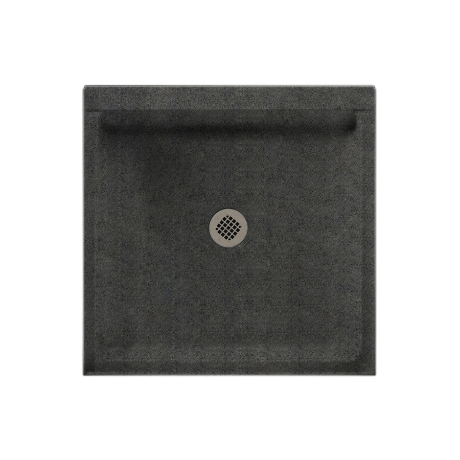 Swanstone Indian Grass Solid Surface Shower Base (Common: 32-in W x 32-in L; Actual: 32-in W x 32-in L)