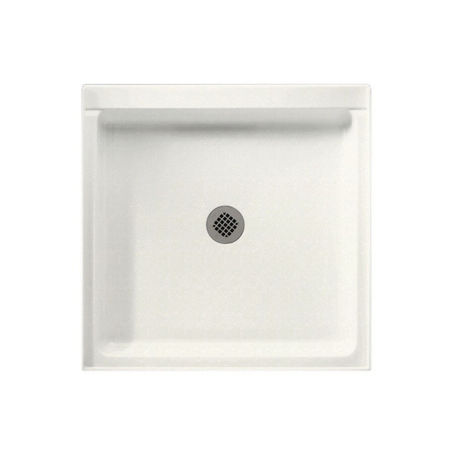Swanstone Tahiti Ivory Solid Surface Shower Base (Common: 32-in W x 32-in L; Actual: 32-in W x 32-in L)