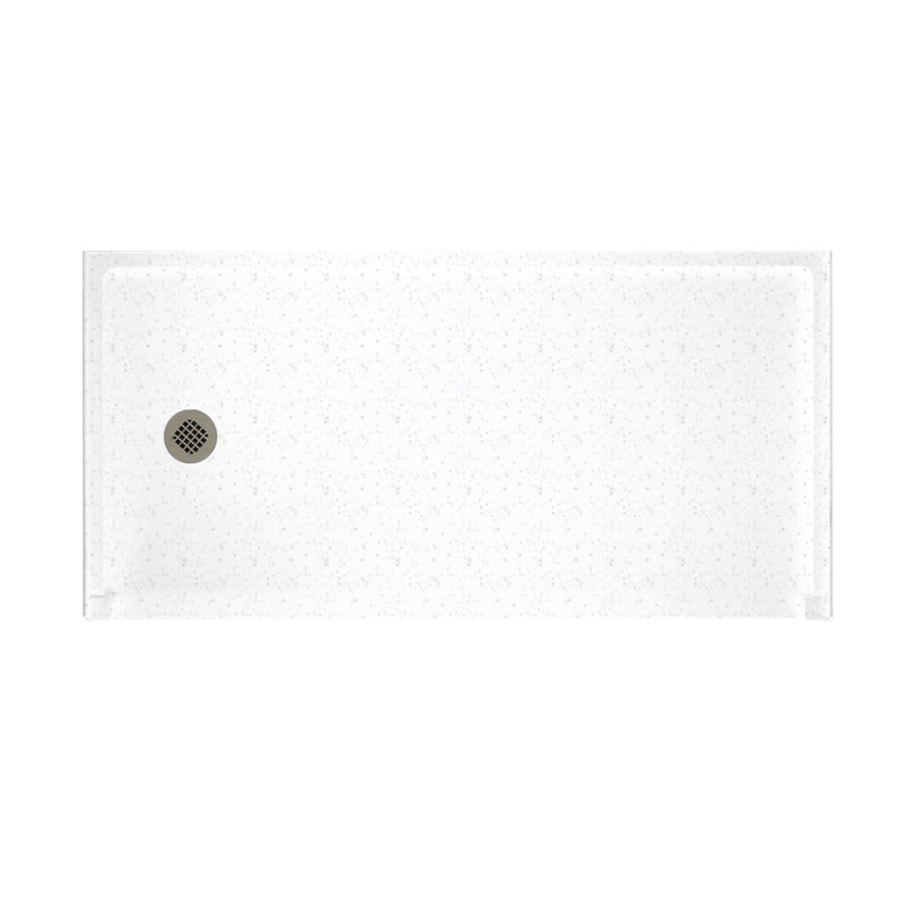 Swanstone Arctic Granite Solid Surface Shower Base (Common: 30-in W x 60-in L; Actual: 30-in W x 60-in L)