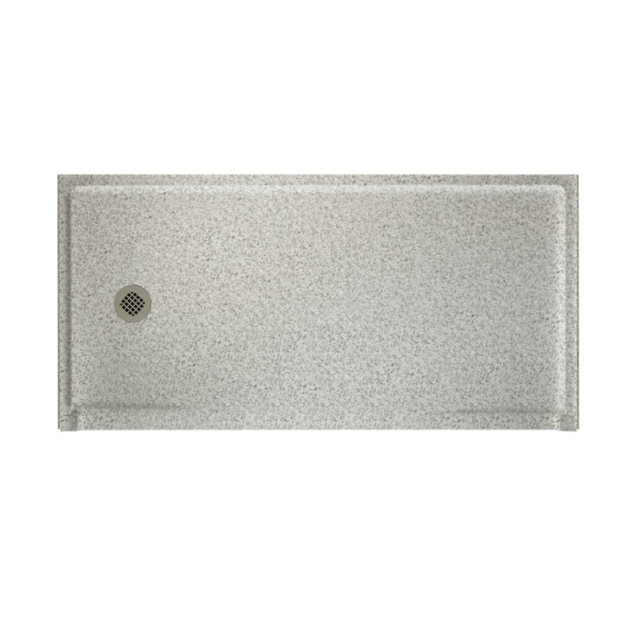 Swanstone Gray Granite Solid Surface Shower Base (Common: 30-in W x 60-in L; Actual: 30-in W x 60-in L)