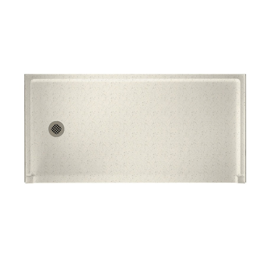 Swanstone Tahiti Matrix Solid Surface Shower Base (Common: 30-in W x 60-in L; Actual: 30-in W x 60-in L)