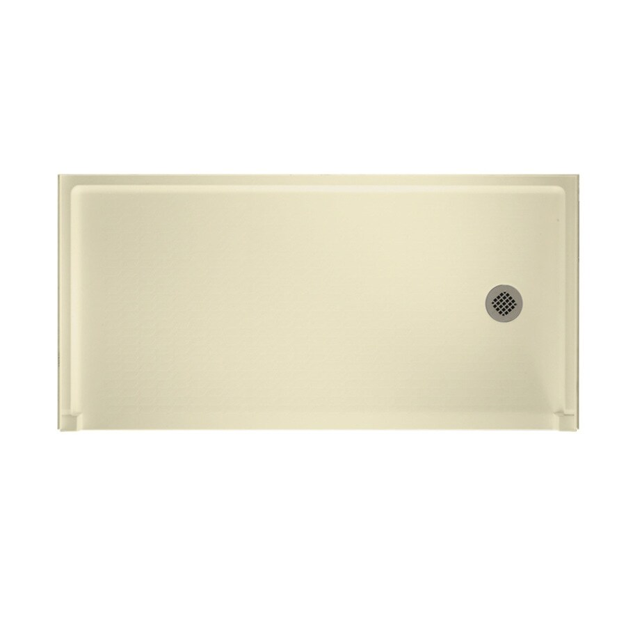 Swanstone Bone Solid Surface Shower Base (Common: 30-in W x 60-in L; Actual: 30-in W x 60-in L)