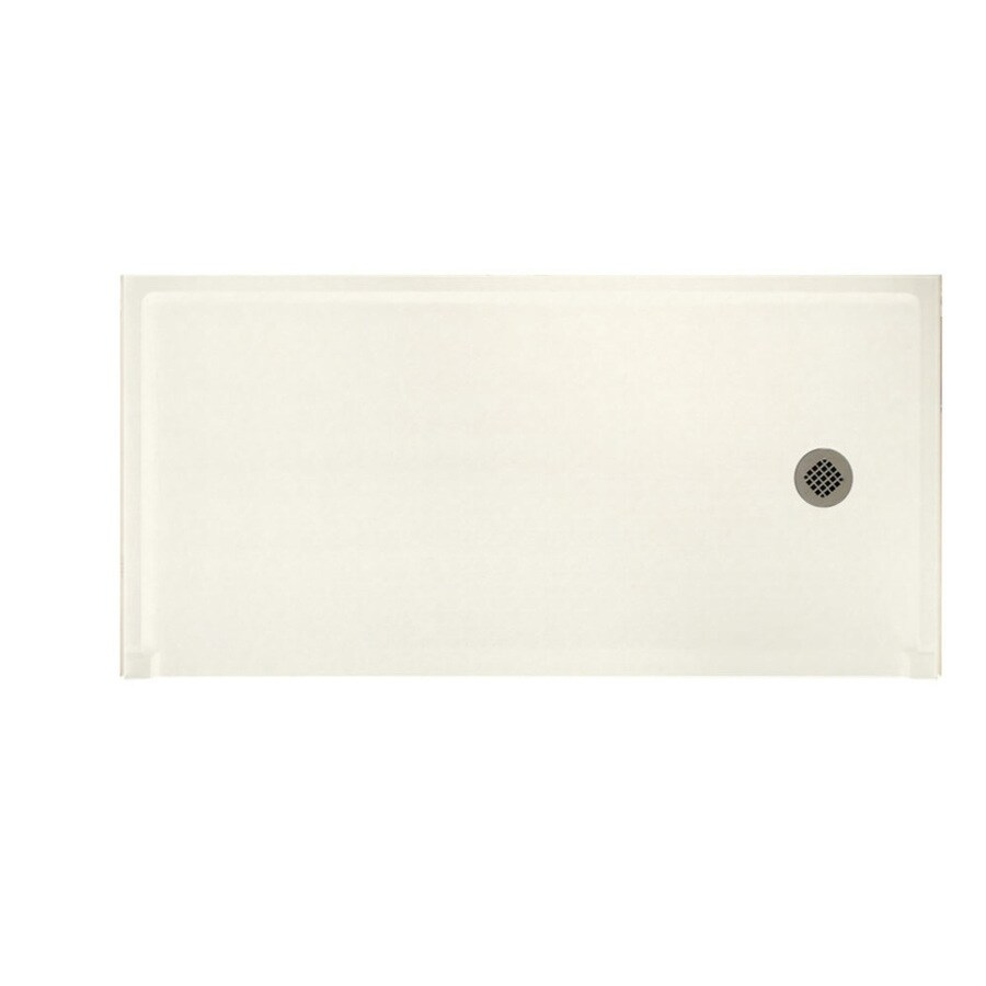 Swanstone Tahiti Ivory Solid Surface Shower Base (Common: 30-in W x 60-in L; Actual: 30-in W x 60-in L)
