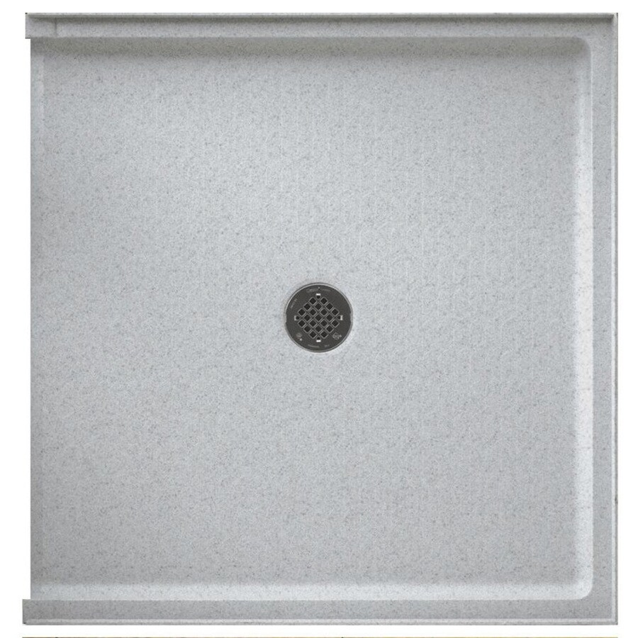 Swanstone Tahiti Gray Solid Surface Shower Base (Common: 37-in W x 38-in L; Actual: 37-in W x 38-in L)