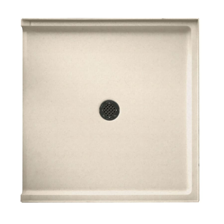 Swanstone Tahiti Sand Solid Surface Shower Base (Common: 37-in W x 38-in L; Actual: 37-in W x 38-in L)