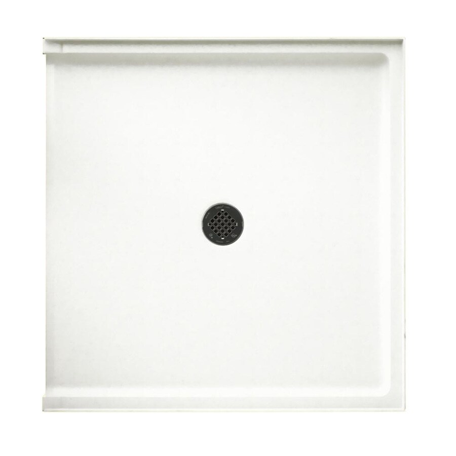 Swanstone Tahiti White Solid Surface Shower Base (Common: 37-in W x 38-in L; Actual: 37-in W x 38-in L)