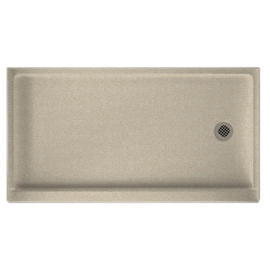 Swanstone Winter Wheat Solid Surface Shower Base (Common: 32-in W x 60-in L; Actual: 32-in W x 60-in L)