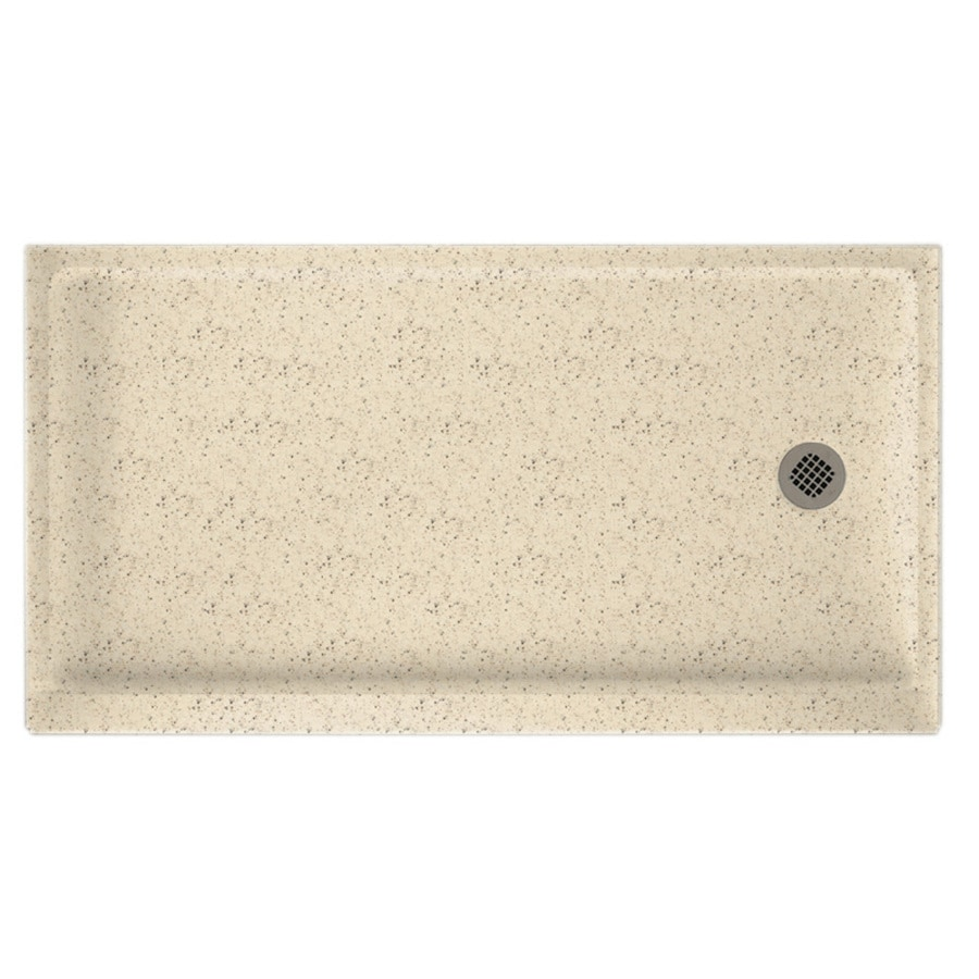 Swanstone Tahiti Desert Solid Surface Shower Base (Common: 32-in W x 60-in L; Actual: 32-in W x 60-in L)