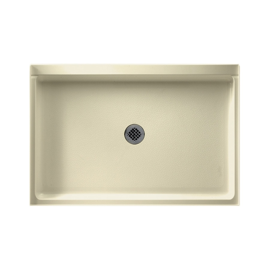 Swanstone Bone Solid Surface Shower Base (Common: 32-in W x 48-in L; Actual: 32-in W x 48-in L)