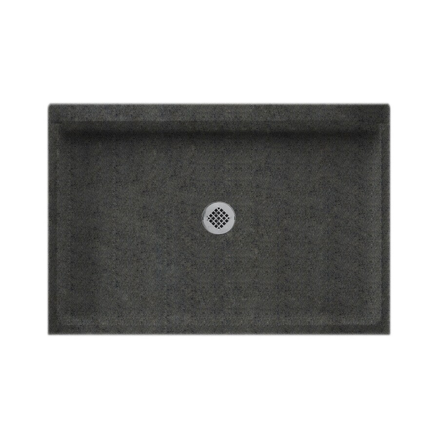 Swanstone Indian Grass Solid Surface Shower Base (Common: 32-in W x 48-in L; Actual: 32-in W x 48-in L)