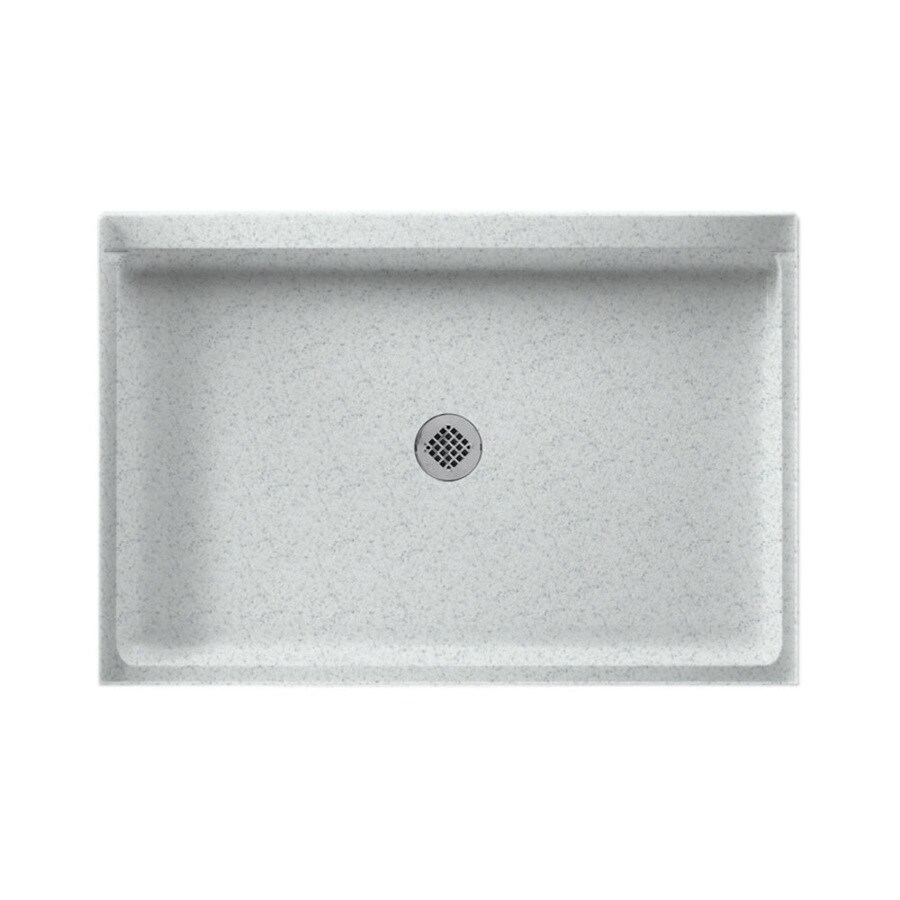 Swanstone Tahiti Gray Solid Surface Shower Base (Common: 32-in W x 48-in L; Actual: 32-in W x 48-in L)