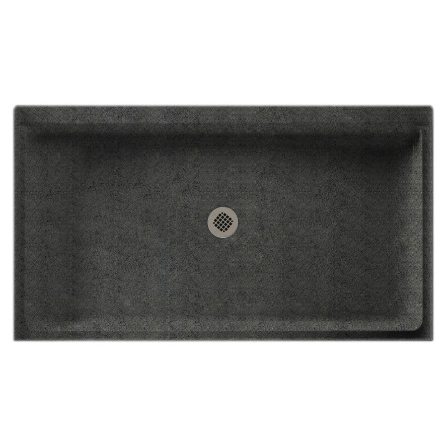 Swanstone Indian Grass Solid Surface Shower Base (Common: 32-in W x 60-in L; Actual: 32-in W x 60-in L)