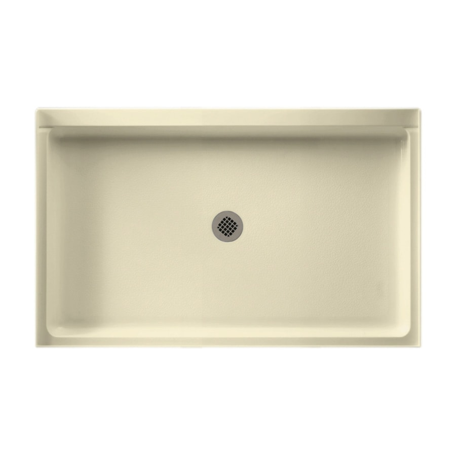 Swanstone Bone Solid Surface Shower Base (Common: 34-in W x 54-in L; Actual: 34-in W x 54-in L)