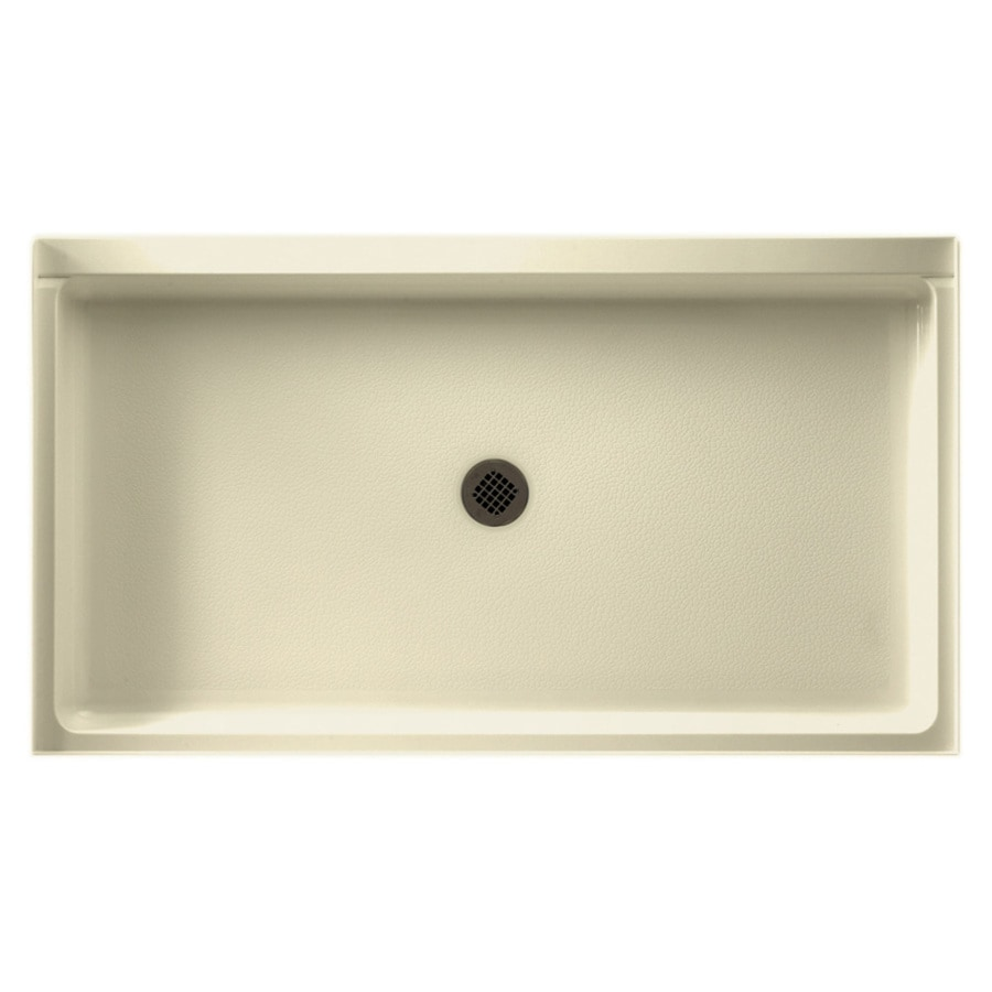 Swanstone Bone Solid Surface Shower Base (Common: 34-in W x 60-in L; Actual: 34-in W x 60-in L)