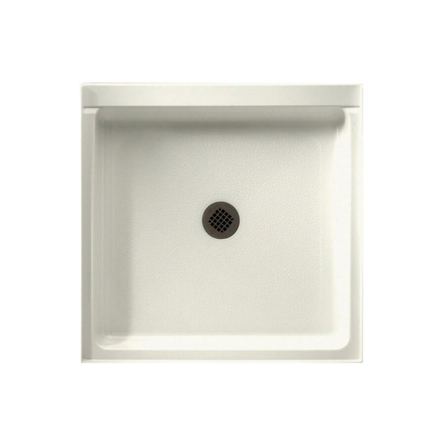 Swanstone Bisque Fiberglass and Plastic Composite Shower Base (Common: 32-in W x 32-in L; Actual: 32-in W x 32-in L)
