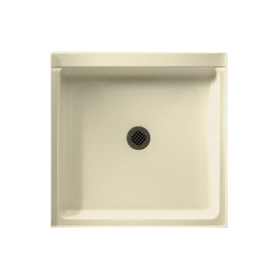 Swanstone Bone Fiberglass and Plastic Composite Shower Base (Common: 32-in W x 32-in L; Actual: 32-in W x 32-in L)