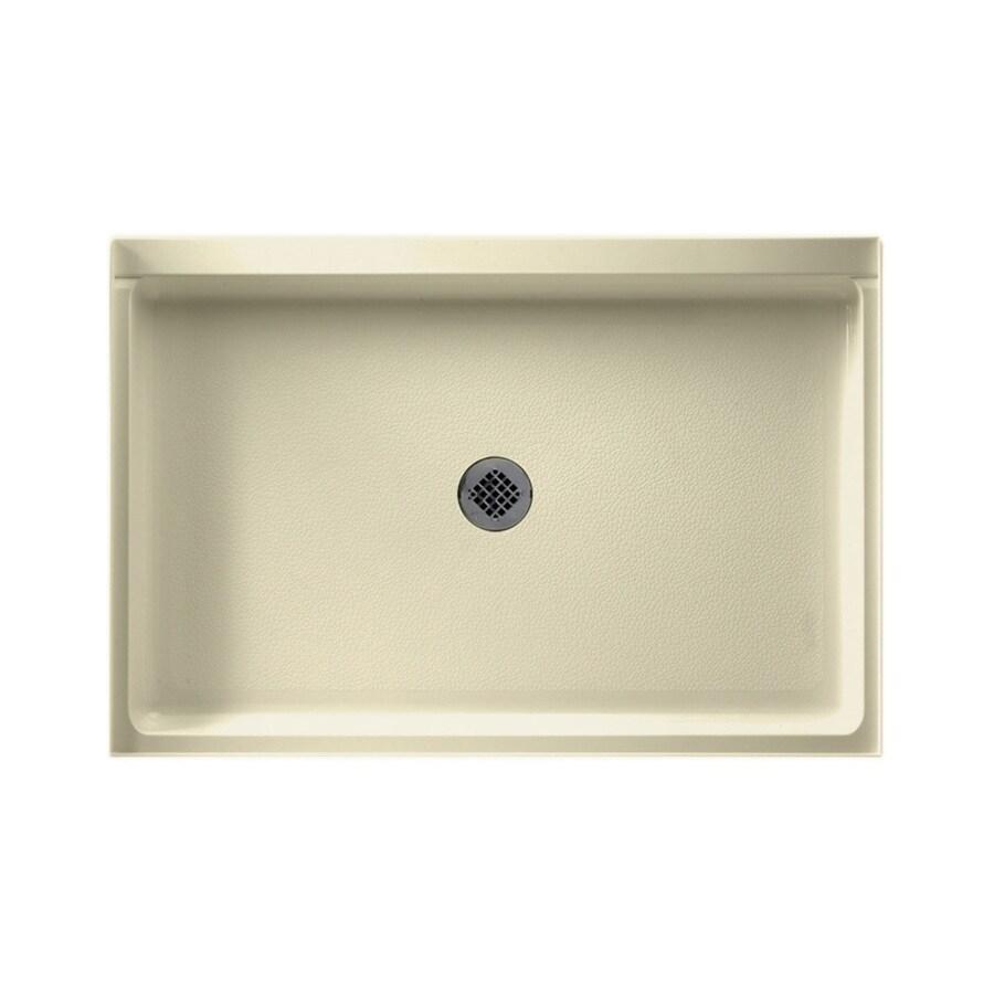 Swanstone Bone Fiberglass and Plastic Composite Shower Base (Common: 48-in W x 32-in L; Actual: 32-in W x 48-in L)