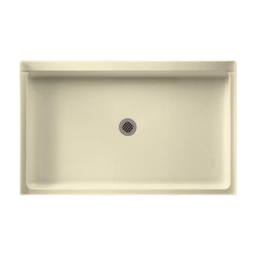 Swanstone Bone Fiberglass and Plastic Composite Shower Base (Common: 54-in W x 34-in L; Actual: 34-in W x 54-in L)