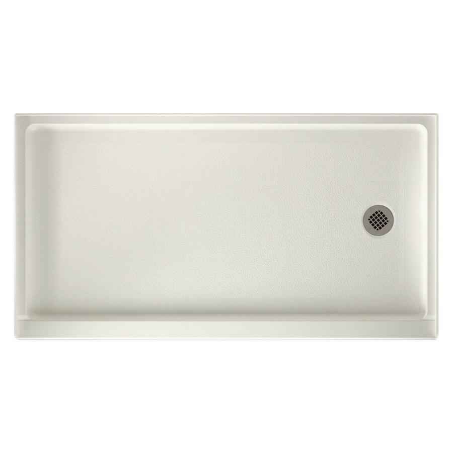 Swanstone Bisque Fiberglass and Plastic Composite Shower Base (Common: 32-in W x 60-in L; Actual: 32-in W x 60-in L)